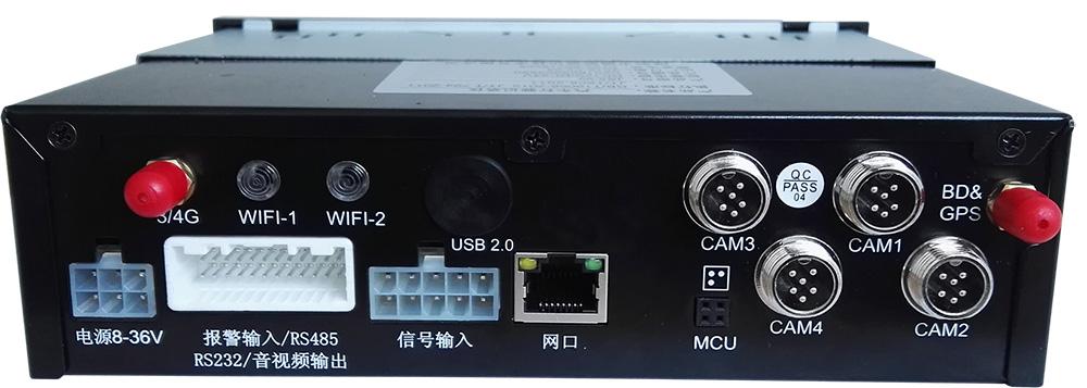 4路高清 车载硬盘录像机 支持北斗GPS导航 4G WIFI 国标部标 第3张
