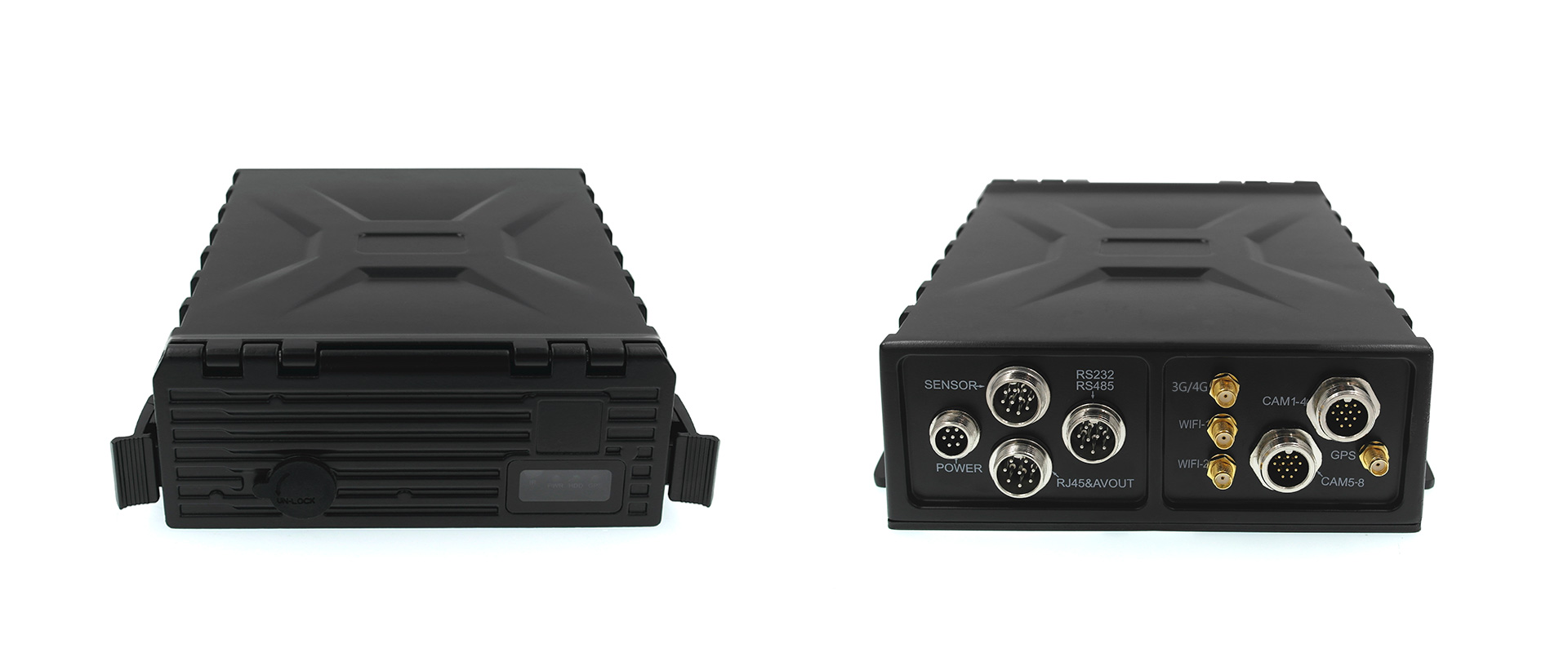 4路防水车载硬盘录像机 支持GPS 4G WIFI 第2张