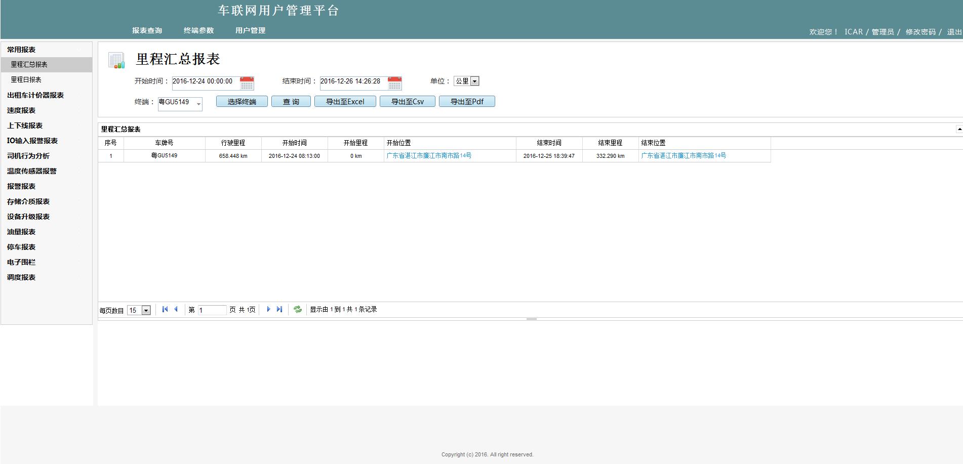 IVMS WEB客户端——智能车辆管理系统平台 第1张
