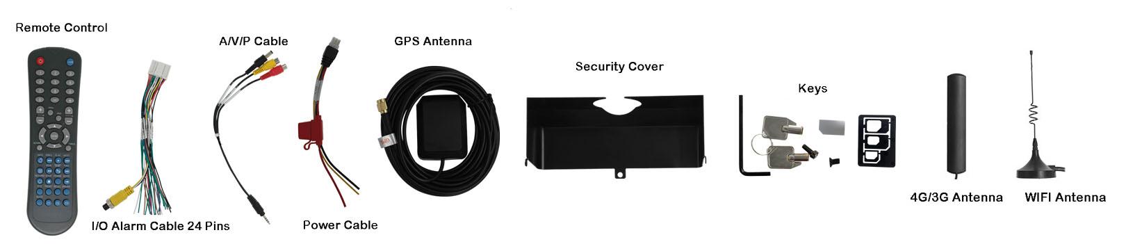 4路车载硬盘录像机 支持GPS 4G WIFI 第4张