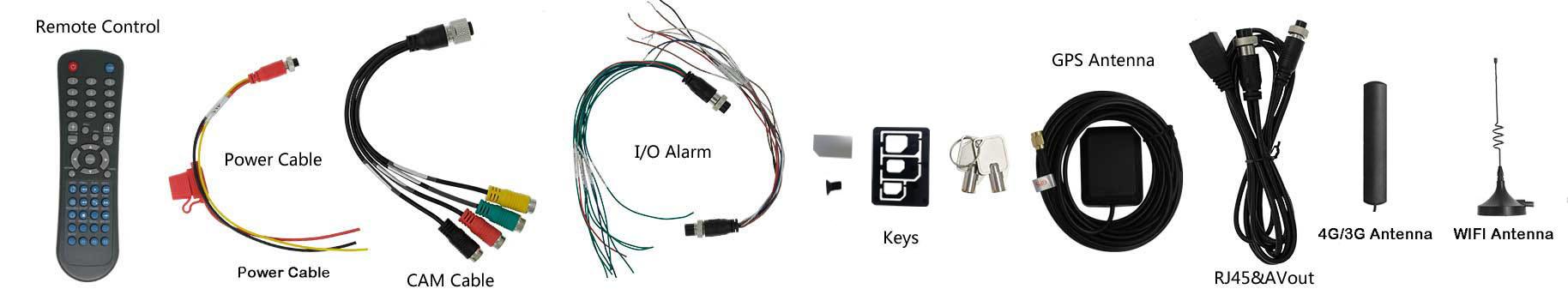 8路防水车载硬盘录像机 支持GPS 3G WIFI 第4张